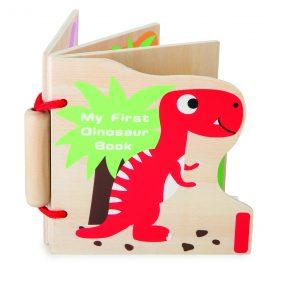 SMALL FOOT – Libretto di Legno con Dinosauri (6m+)