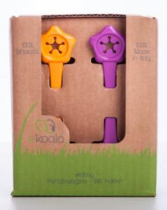 EKOALA – Set 2 Portabavaglino in Bio Plastica Viola e Arancione