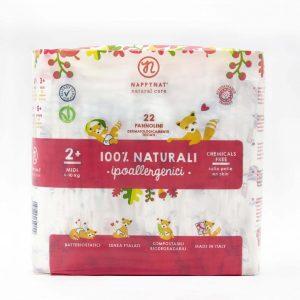 NAPPYNAT – Pannolini Biodegradabili Midi (4-10kg) 22 Pannolini