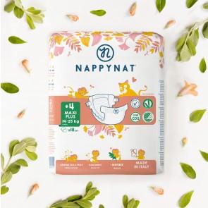 NAPPYNAT – Pannolini Biodegradabili MaxiPlus (14-25 kg) 18 Pannolini