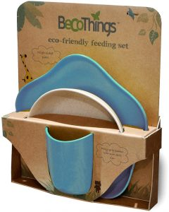 BECOTHINGS – Set Pappa Biodegradabile ed Ecologico (Blu)