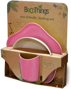 BECOTHINGS – Set Pappa Biodegradabile ed Ecologico (Rosa)