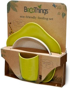 BECOTHINGS – Set Pappa Biodegradabile ed Ecologico (Verde)