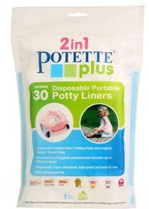 POTETTE – 30 Sacchetti Usa e Getta Biodegradabili per il Vasino da Viaggio