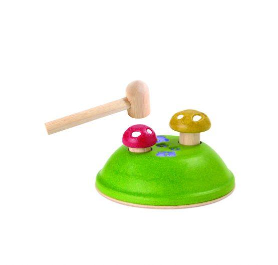 PLAN TOYS – Funghi con martello per battere (12m+)