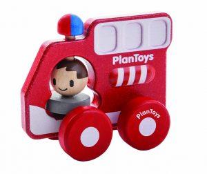 PLAN TOYS – Camion pompieri (12m+)