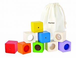 PLAN TOYS – Cubi sensoriali (12m+)