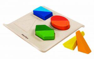 PLAN TOYS – Puzzle In Legno Forme e Colori (18m+)