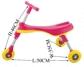 misure scuttlebug triciclo pieghevole
