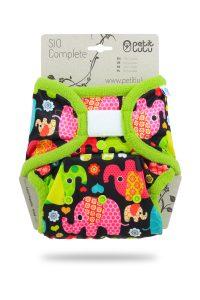 PETIT LULU' – Pannolino Lavabile SIO Elefanti (Velcro)