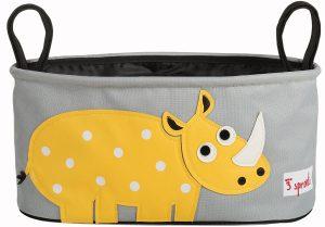 3 SPROUTS – Portaoggetti per Passeggino Rinoceronte