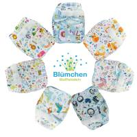 BLÜMCHEN – Set 5 Pannolini Lavabili Pocket Inserti in Cotone Bio