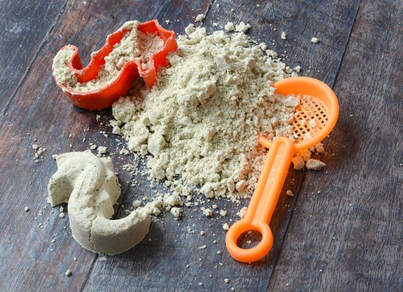 ricetta sabbia cinetica quadrata