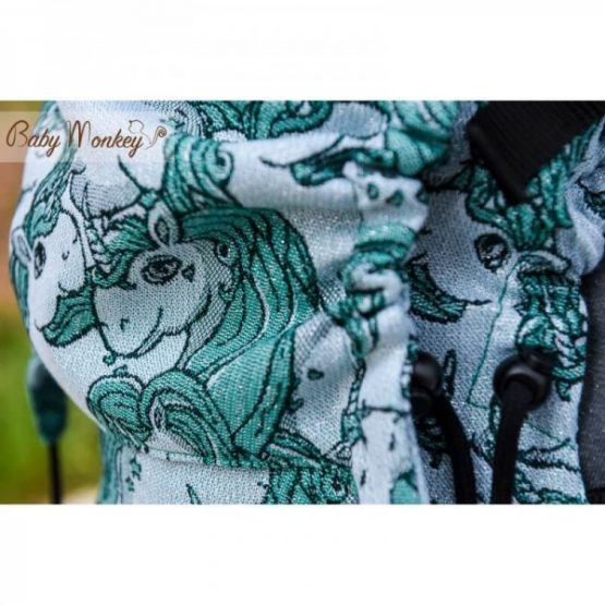 baby monkey regolo unicorn verde