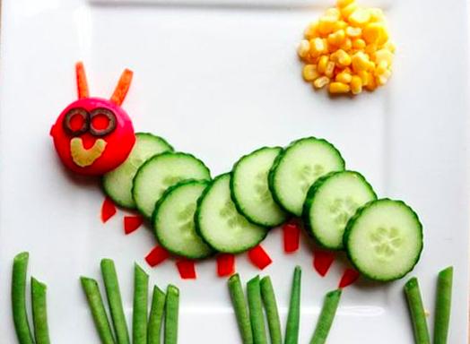 far mangiare le verdure ai bambini