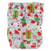 blumchen- pannolino lavabile pocket natalizio