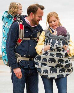 BUNDLE BEAN – Copertina da Viaggio con Cappuccio Elefanti