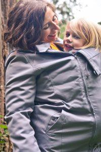 WEAR ME BABY – Giacca per portare 4 in 1 Grigia