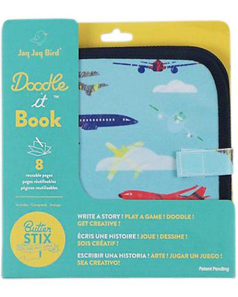 jaq jaq bird quaderno riutilizzabile con gessetti aereo
