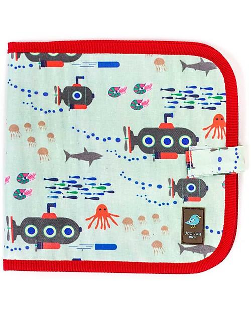jaq jaq bird quaderno riutilizzabile con gessetti sottomarini