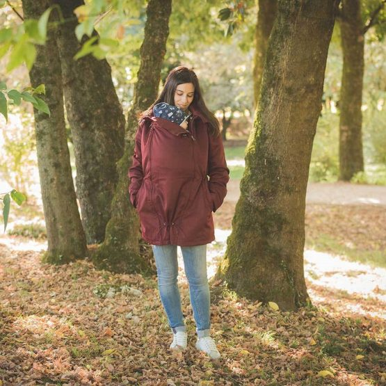 WEAR ME BABY – Giacca per portare 4 in 1 Bordeaux