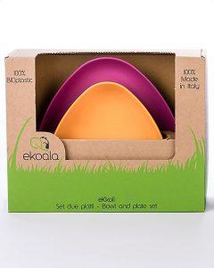 EKOALA – Set Piatti Biodegradabili (Viola)