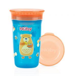 NUBY- Bicchiere Antigoccia con Coperchio Orsetto
