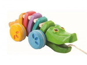 PLAN TOYS  – Coccodrillo Rainbow da Tirare