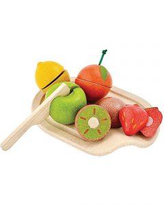 PLAN TOYS – Set Frutta con Coltello e Tagliere