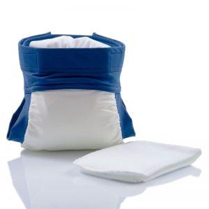 CULLA DI TEBY – Costume Contenitivo Lavabile Bianco e Blu