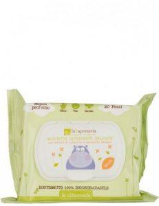 LA SAPONARIA – Salviette Detergenti Delicate Biodegradabili