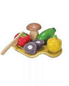 PLAN TOYS – Set Verdura con Coltello e Tagliere