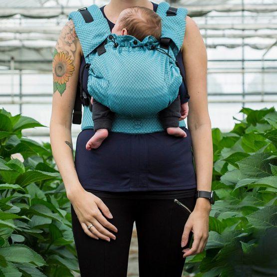marsupio ergonomico regolabile cotone biologico baby size toddler size blue diamond